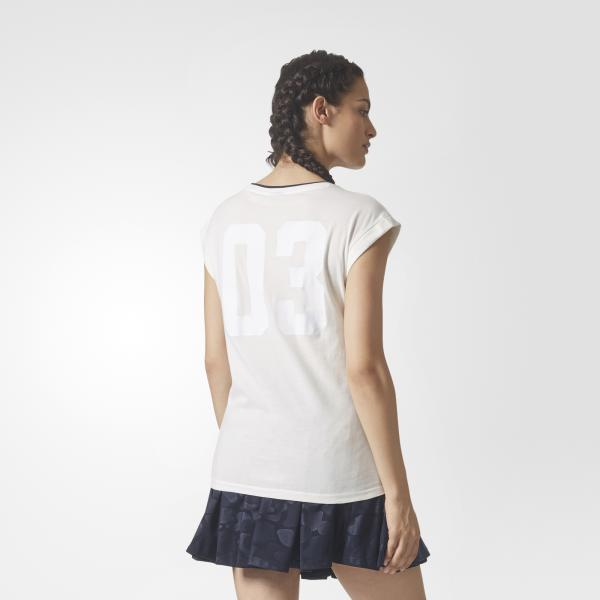 Adidas Originals Canotta Bf Roll Up Tee  Donna Bianco Tifoshop