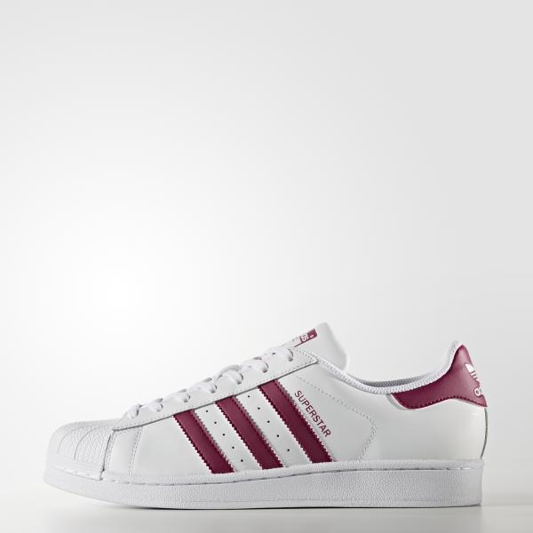 Adidas Originals Scarpe Superstar  Unisex Bianco/Bordeaux Tifoshop