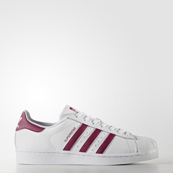 Adidas Originals Scarpe Superstar  Unisex Bianco/Bordeaux