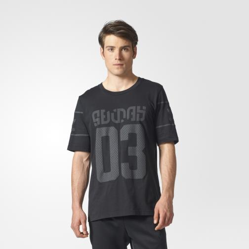Adidas Originals T-shirt Winter D-tee Nero/Grigio Tifoshop