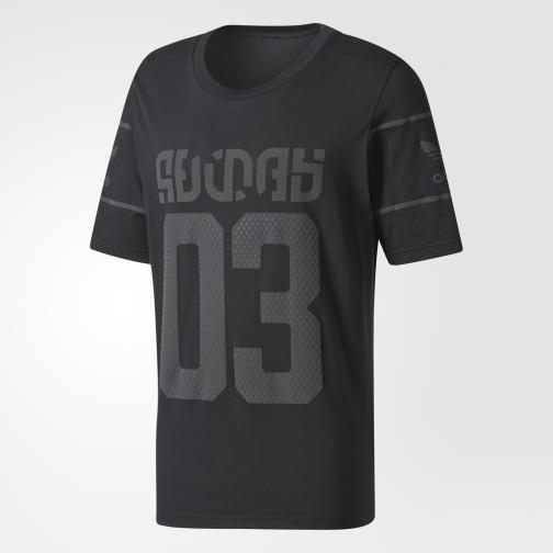 Adidas Originals T-shirt Winter D-tee Nero/Grigio Tifoshop