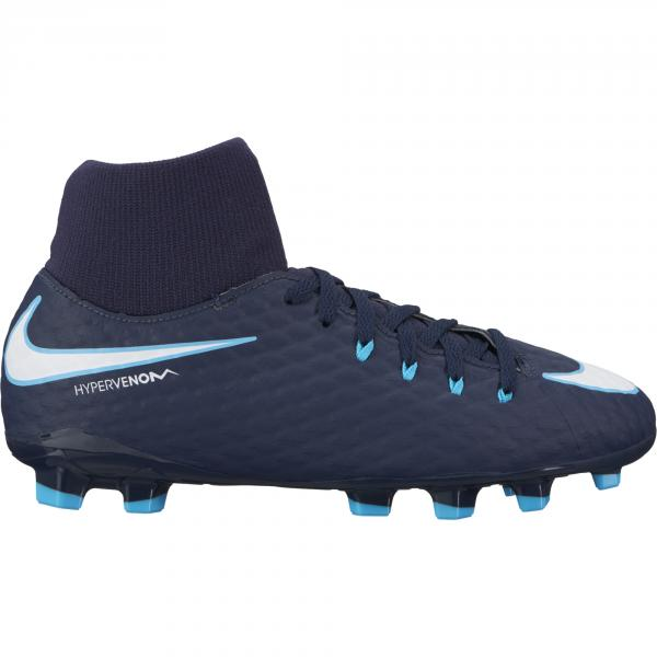 Nike Scarpe Calcio Jr. Hypervenom Phelon Iii Dynamic Fit Fg  Junior Blu/Bianco
