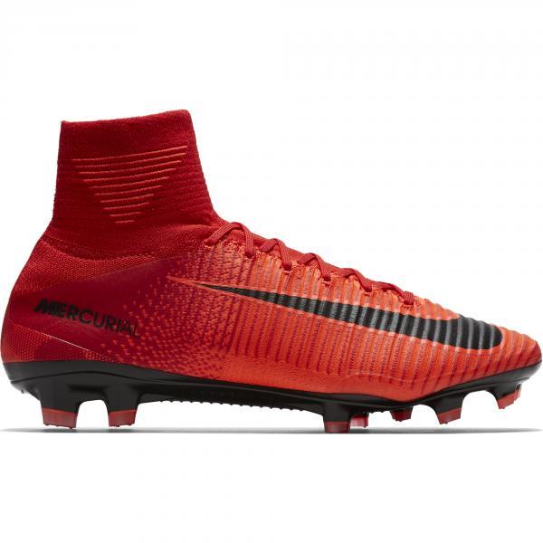 Nike Scarpe Calcio Mercurial Superfly V Fg Rosso/Nero/ Mango