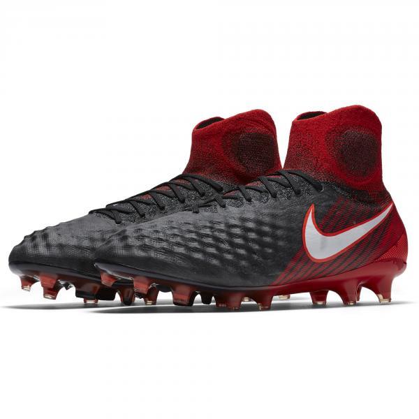 Nike Scarpe Calcio Magista Obra Ii Fg Nero/Bianco/Rosso Tifoshop