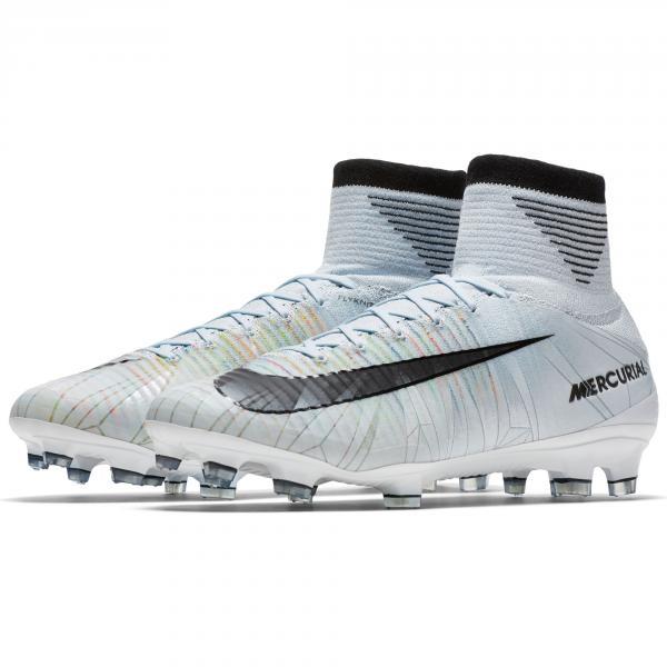 Nike Scarpe Calcio Mercurial Superfly V Cr7 Fg   Cristiano Ronaldo Blu/Nero/Bianco/Volt Tifoshop