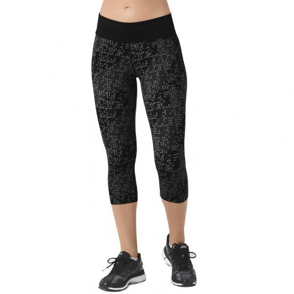 Asics Pantalone Race Knee Tight  Donna NERO/VERDE