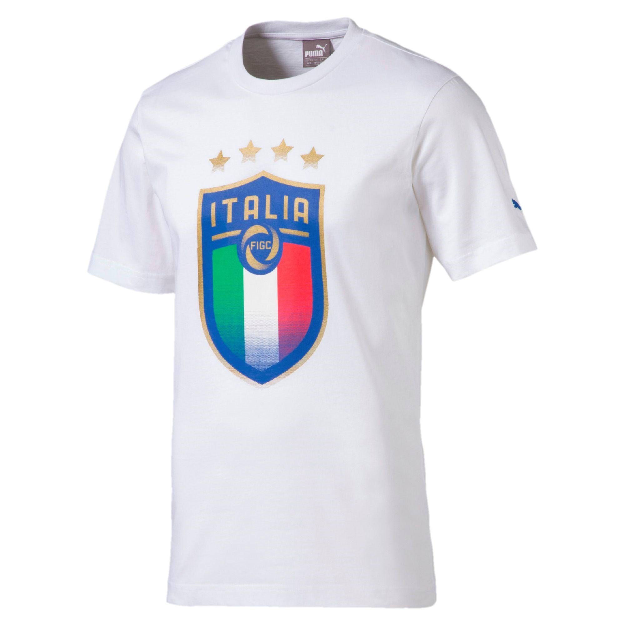 60b17dd7b0fc Puma T-shirt Badge Tee Italy Puma White - Tifoshop.com
