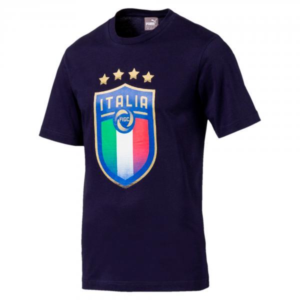 Figc Italia Badge Tee PEACOAT FIGC Store