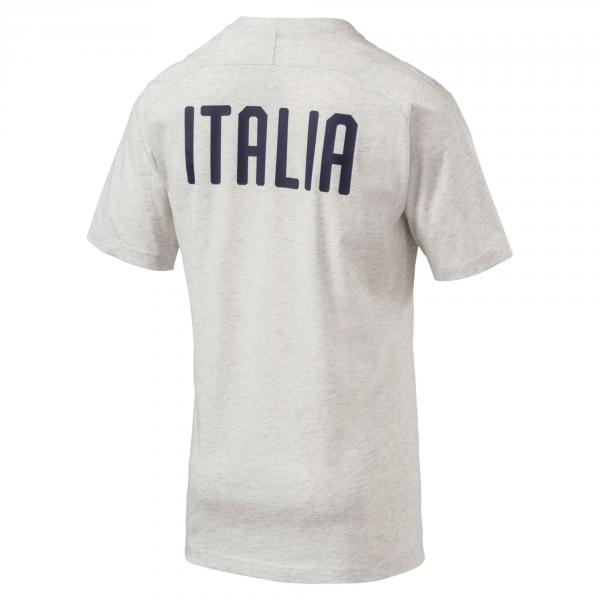 Figc Italia Casual Performance T-shirt Ss PUMA WHITE HEATHER FIGC Store