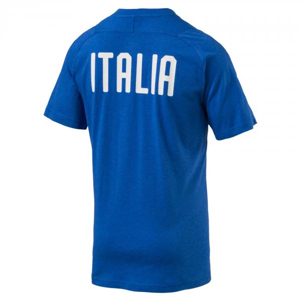 Figc Italia Casual Performance T-shirt Ss Azzurro FIGC Store