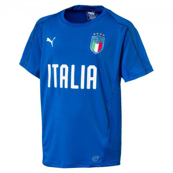 Puma Maglia Allenamento Figc Jr Training Jersey Italia Junior Azzurro