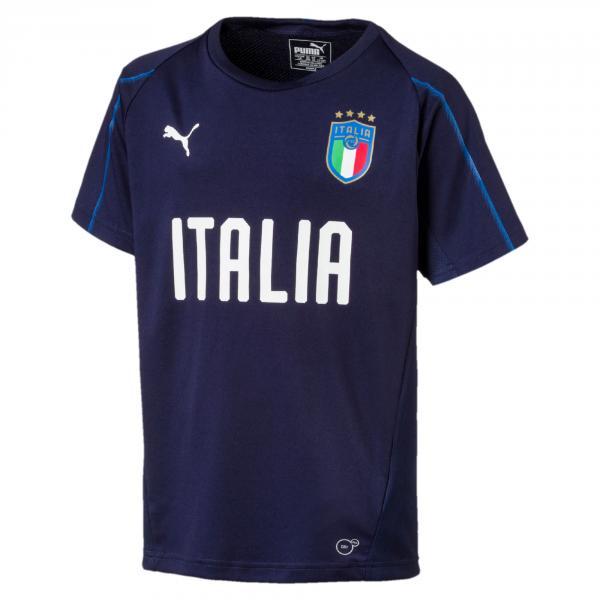 Maglia Da Allenamento Jr Figc Italia Blu-azzurro FIGC Store