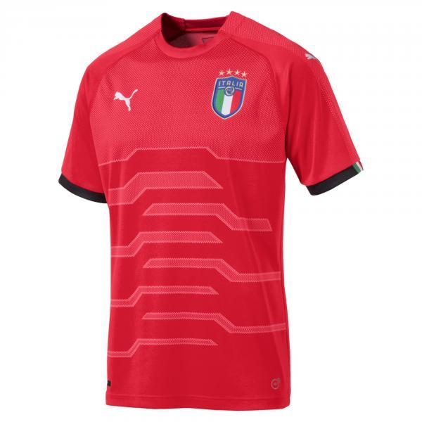 Maglia Da Portiere Maniche Corte Figc Italia Rosso FIGC Store