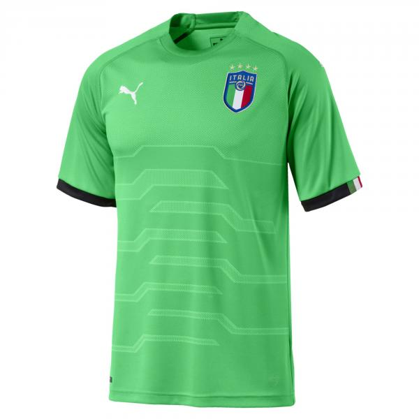 Maglia Da Portiere Maniche Corte Figc Italia Verde FIGC Store