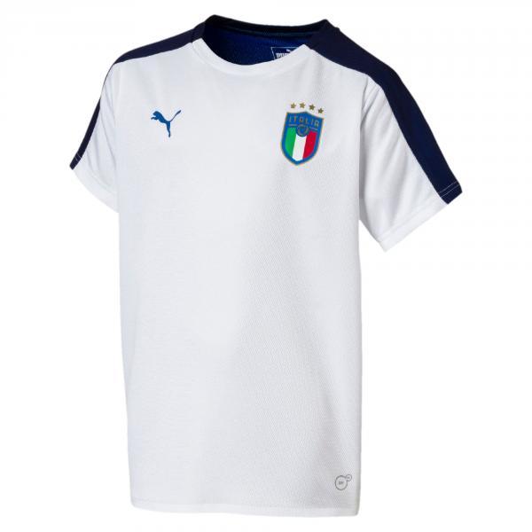 Maglia Pre-match Jr Figc Italia Bianco-blu FIGC Store