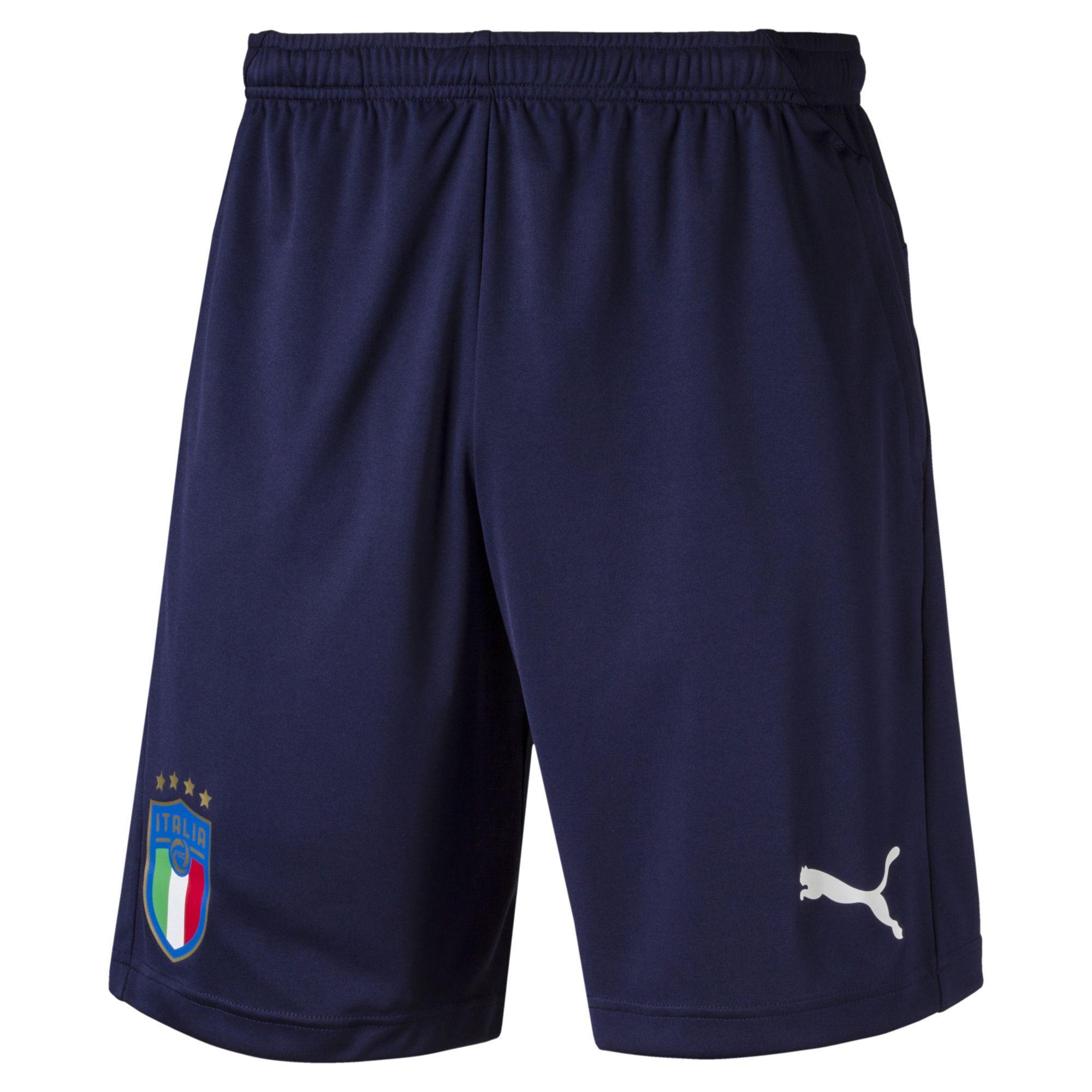 b2b413cede23 Puma Short Pants Figc Training Shorts Italy Peacoat-team Power Blue ...