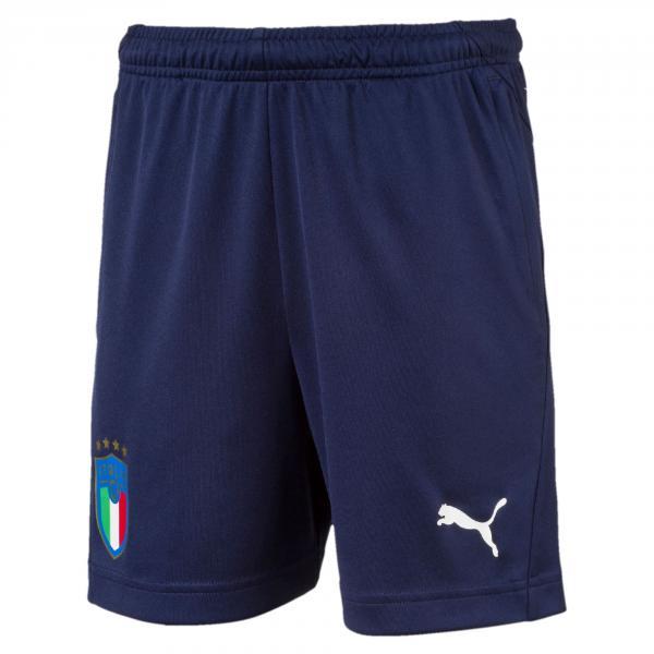Pantaloncini Da Allenamento Jr Figc Italia Blu-azzurro FIGC Store