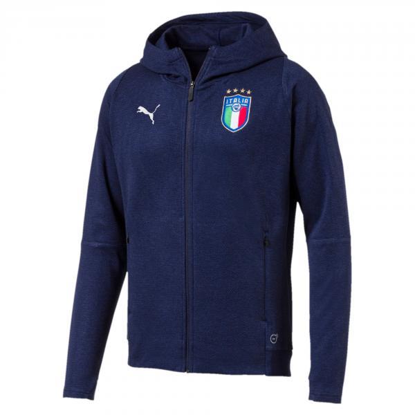 Figc Italia Casual Performance Zip-thru Hoody Blu FIGC Store