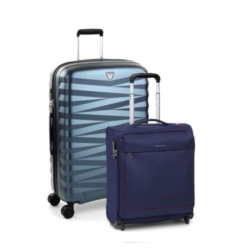 TROLLEY MEDIO  BLU + DARK BLUE