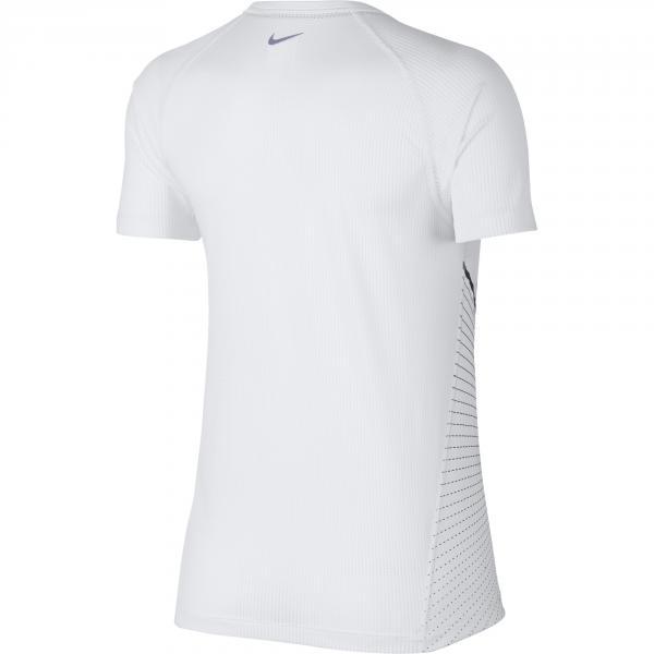 Nike T-shirt Miler  Donna Bianco Tifoshop