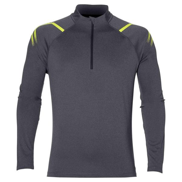 Asics Maillot Icon Ls 1/2 Zip DARK GREY HEATHER