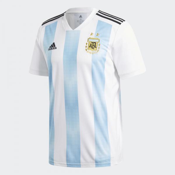 Adidas Maglia Gara Home Argentina   18/20 Bianco Azzurro