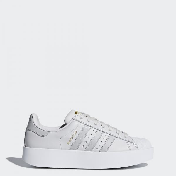 Adidas Originals Scarpe Superstar Bold  Donna GRIGIO