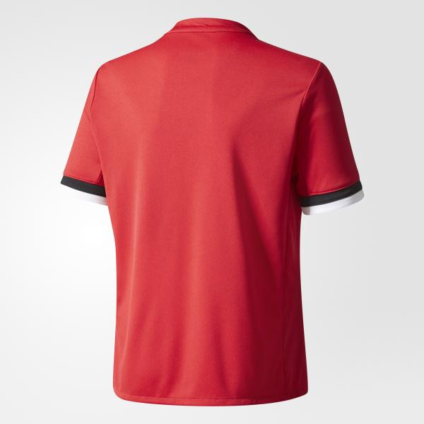 Adidas Maglia Gara Home Manchester United Junior  17/18 Rosso Tifoshop