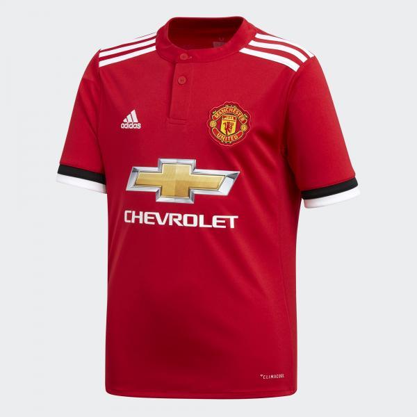 Adidas Maglia Gara Home Manchester United Junior  17/18 Rosso