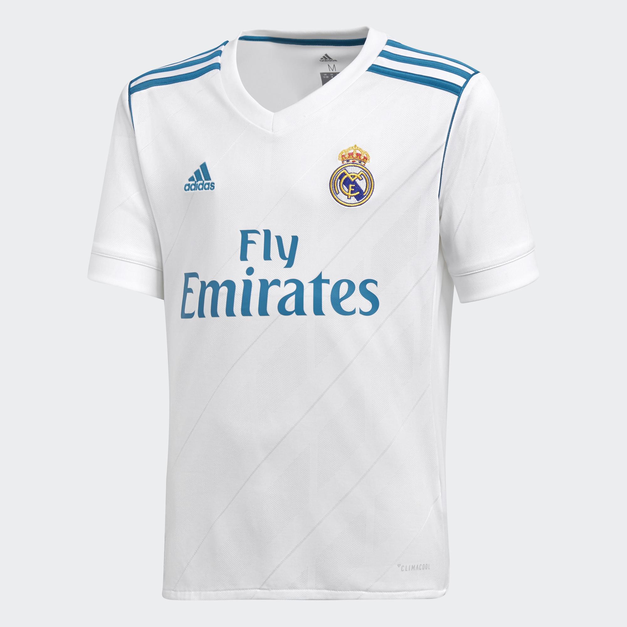 Adidas Maglia Gara Home Real Madrid Junior  17/18