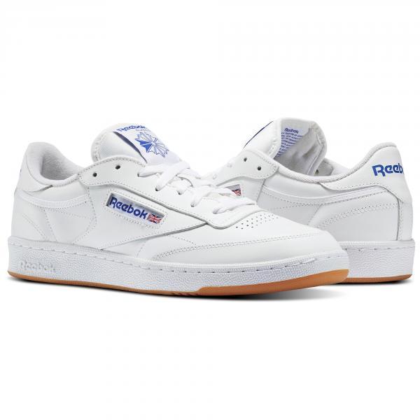 c333b36e295 ... Reebok Shoes Club C 85 Intense White Royal-Gum Tifoshop ...