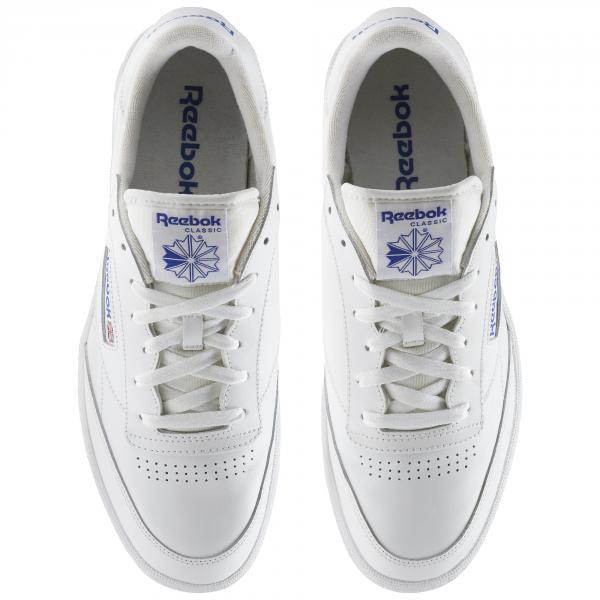 d26415c11258ca ... Reebok Shoes Club C 85 Intense White Royal-Gum Tifoshop ...