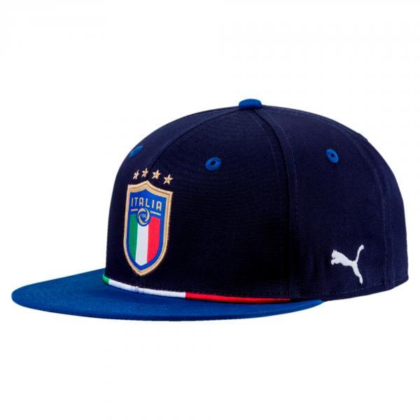 bf23bb5cbad0 Puma Cap Figc Italy Peacoat-team Power Blue - Tifoshop.com