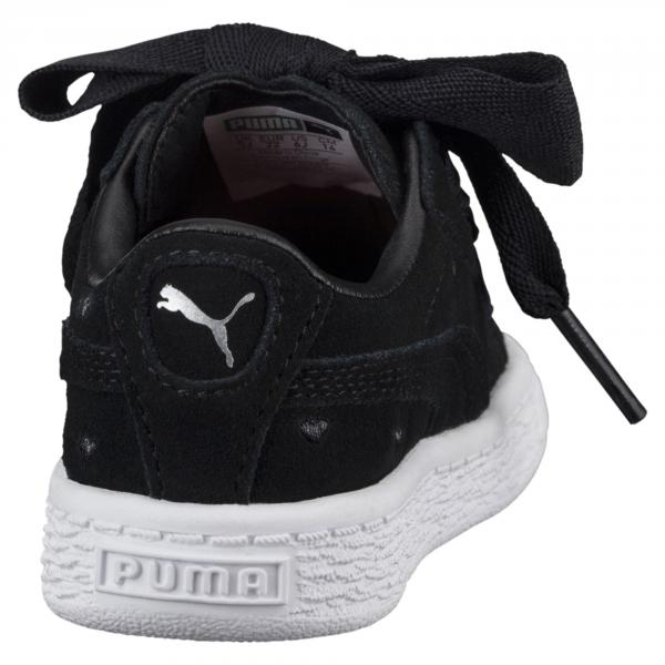 Puma Scarpe Suede Heart Valentine Ps  Junior Nero Tifoshop