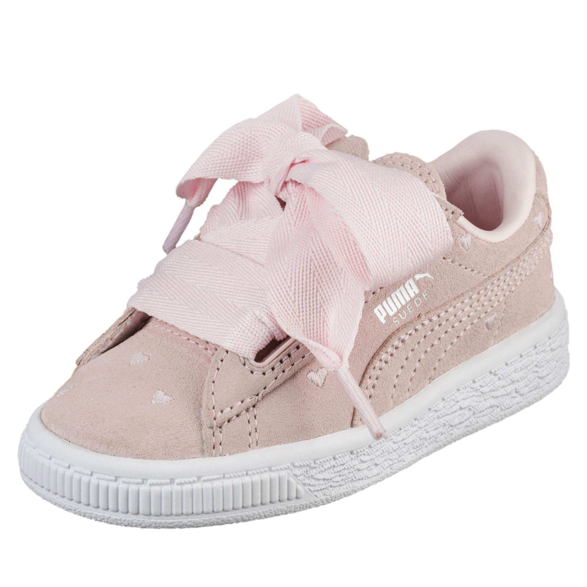 66b65406505 Puma Shoes Suede Heart Valentine Ps Junior Pearl-pearl - Tifoshop.com