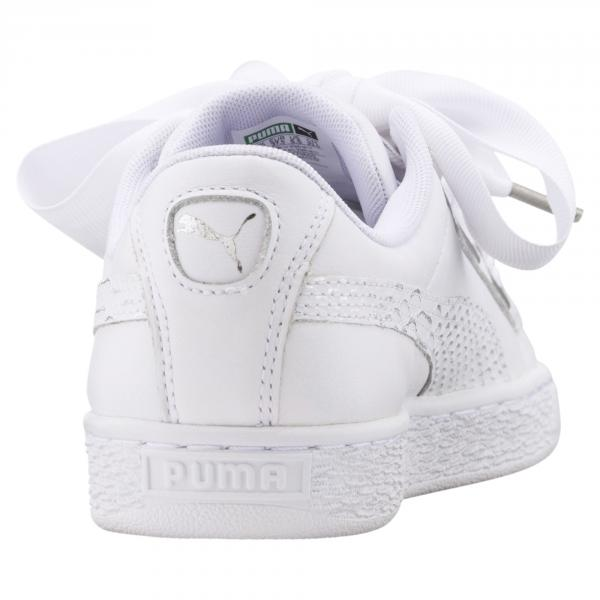 Puma Scarpe Basket Heart Oceanaire  Donna Bianco Tifoshop