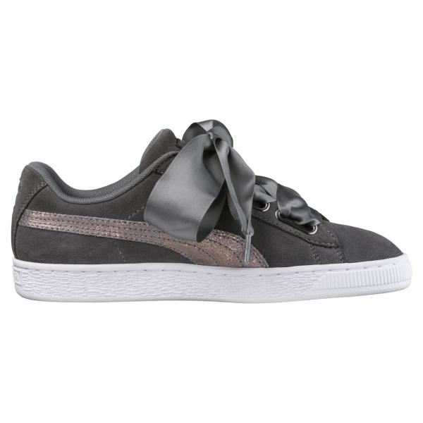 Puma Shoes Suede Heart Lunalux  Woman SMOKED PEARL Tifoshop