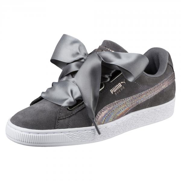 Puma Shoes Suede Heart Lunalux  Woman SMOKED PEARL