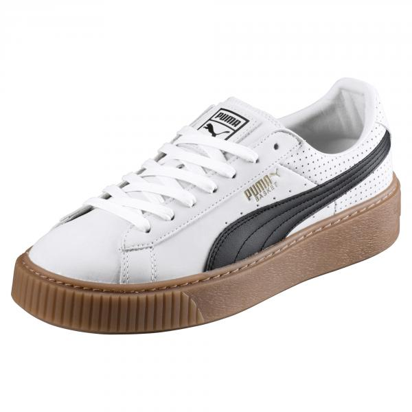4c4d1648eb Puma Shoes Basket Platform Perf Gum Woman PUMA WHITE-PUMA BLACK-GOLD ...