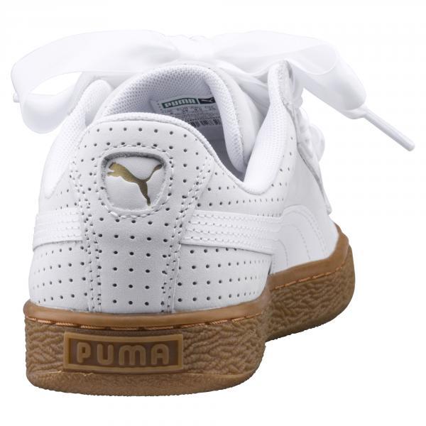 Puma Scarpe Basket Heart Perf Gum  Donna Bianco Tifoshop