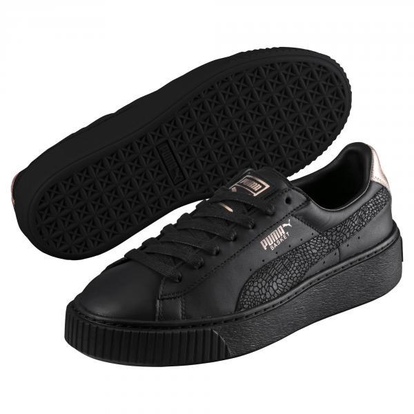 ca21266bd8a330 ... order puma shoes basket platform euphoria rg woman puma black rose gold  tifoshop f764d 81c04