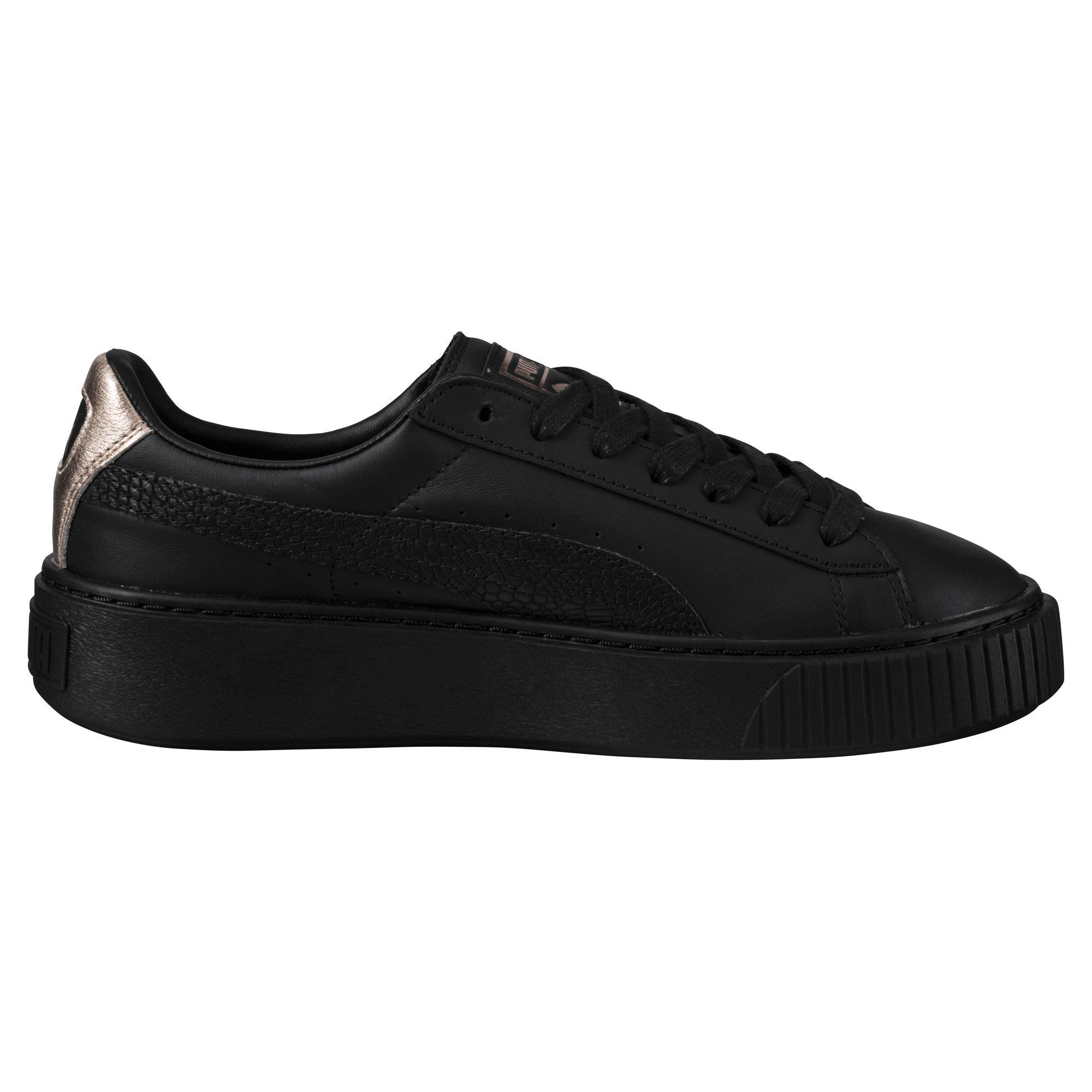 6c5685207810 Puma Shoes Basket Platform Euphoria Rg Woman Puma Black-rose Gold ...