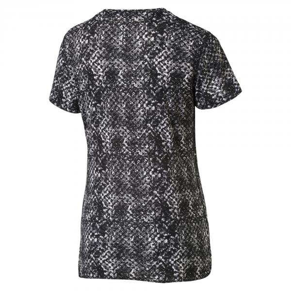 Puma T-shirt Graphic S/s  Donna Bianco Nero Tifoshop