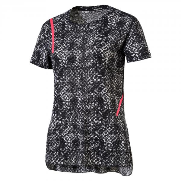 Puma T-shirt Graphic S/s  Donna Bianco Nero