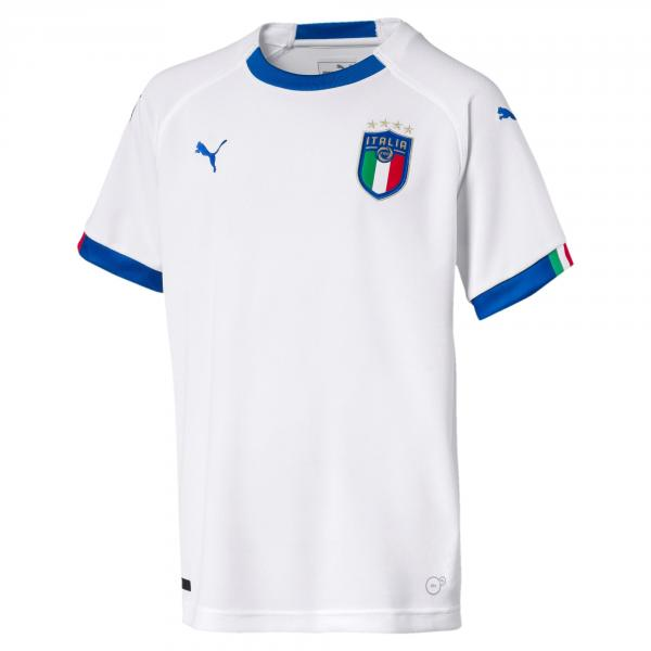 Figc Italia Kids Away Shirt Replica Ss PUMA WHITE-TEAM POWER BLUE FIGC Store