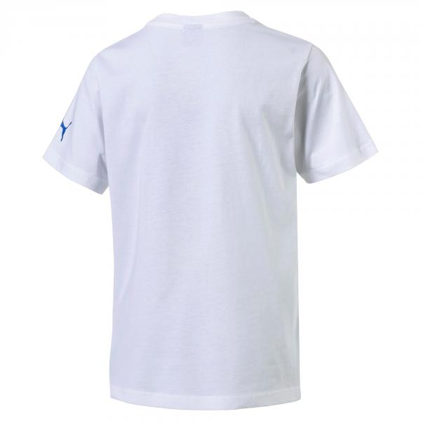 Puma T-shirt Figc Italia Badge Tee Italia Junior Bianco Tifoshop