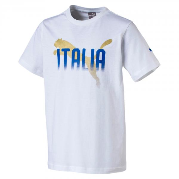 Puma T-shirt Figc Graphic Tee Italia Junior Bianco