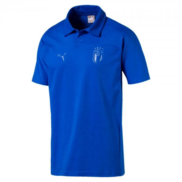 Figc Azzurri Polo TEAM POWER BLUE FIGC Store