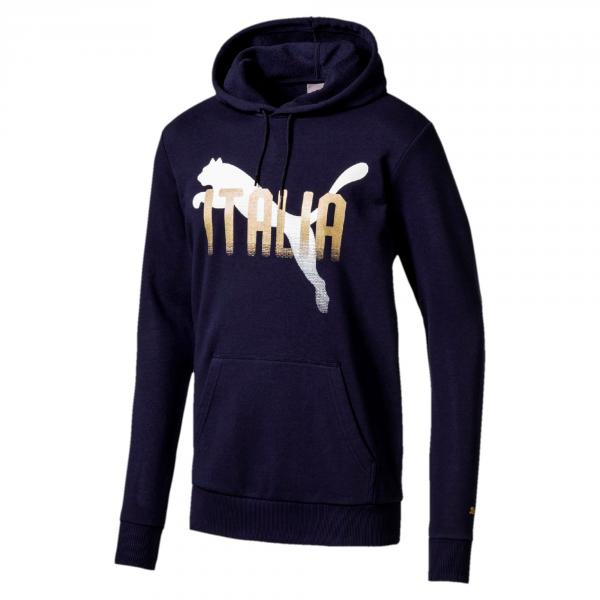 Figc Italia Fanwear Hoody PEACOAT FIGC Store