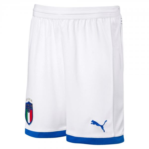 Figc Italia Kids Shorts Replica PUMA WHITE-AWAY FIGC Store